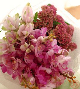 ピンクだけ花束1