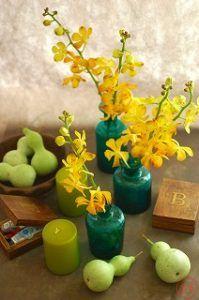 レオナとグリーン花器2